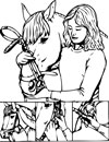 bridle coloring page
