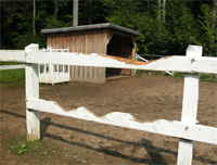 wooden fence pic